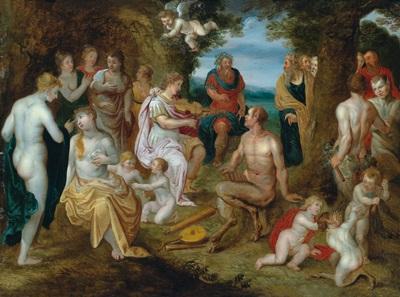 die bestrafung des königs midas nach dem wettstreit zwischen pan und apoll by hendrick de clerck