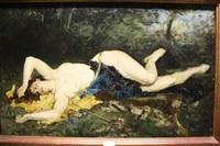femme allongée by alfred roll