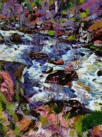 paysage de la creuse - le ruisseau by eugene alluaud