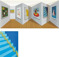 retroperspective; steps and ladders (2 works) by patrick hughes