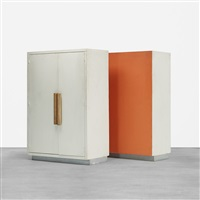 pair of wardrobes from the unité d'habitation (pair) by le corbusier