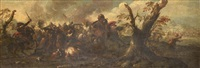 scène de bataille by antonio calza