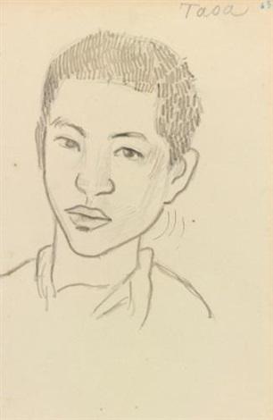 taoa recto études de deux têtes et un torse verso by paul gauguin