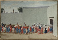 the solemn procession of the sultan and his court on the occasion of the bairam by jacopo leonardis