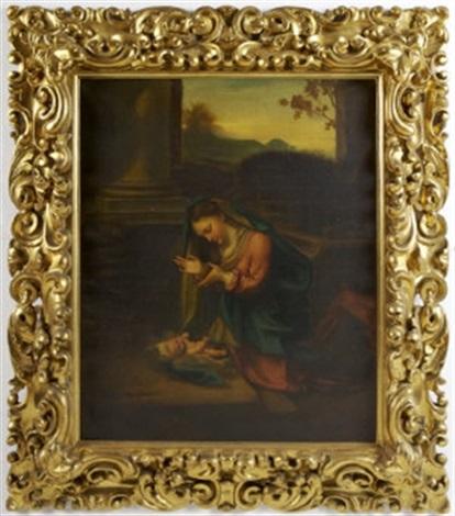 madonna and child by v e cecchi