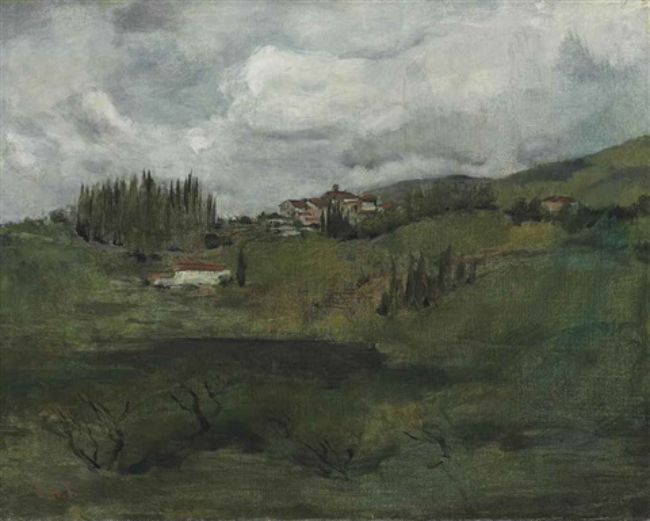 tuscan landscape by john henry twachtman