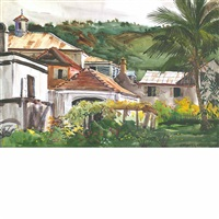 backyard, st. thomas; st. thomas native (2 works) by andrew winter