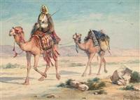 an arab traveler in the desert by tony binder