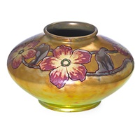 vessel-decorated with large blossoms by zsolnay