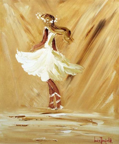 dancer in white by louise mansfield