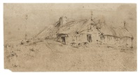 an inn on a dyke by rembrandt van rijn