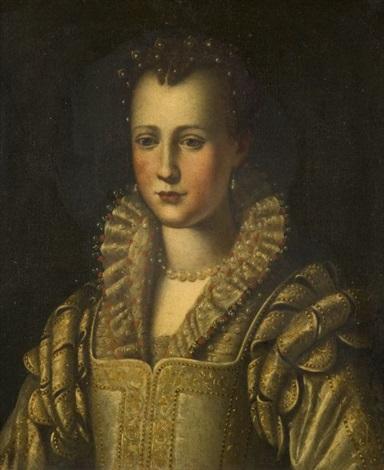 portrait deleonora de medicis by alessandro di cristofano allori