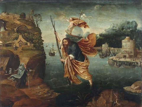 saint christopher by joachim patinir