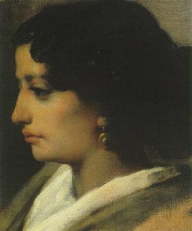 portrait de jeune femme by joseph paul marius soumy