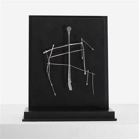 kinetic brooch by harry bertoia