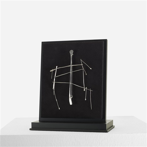 kinetic brooch by harry bertoia