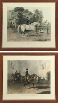 ladie's mile (+the riding school; 2 works) by francis calcraft turner