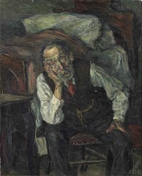 portrait of an older men by joseph floch