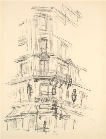 coin de paris et le bistrot 2 works from paris sans fin by alberto giacometti