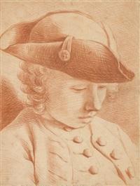 portrait d'un jeune garçon portant un chapeau by jean-martial fredou