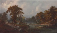 boating on the river by alexander françois loemans
