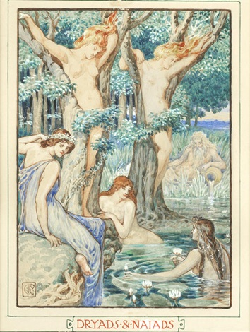 dryads and naiads by walter crane on artnet