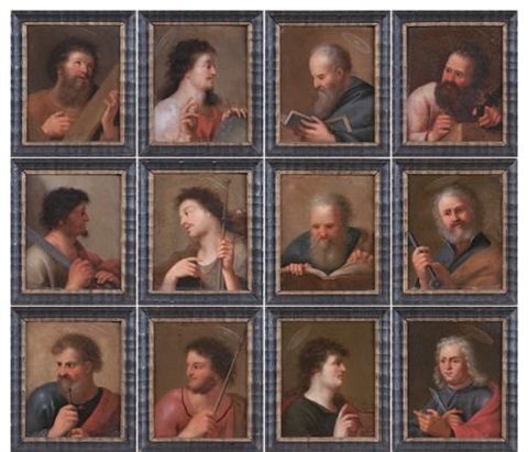 a series of the twelve apostles 12 works by cornelis van poelenburgh