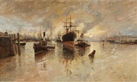 towing into port on the clyde by james kay