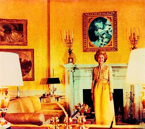 first lady pat nixon from the series bringing the war home house beautiful by martha rosler