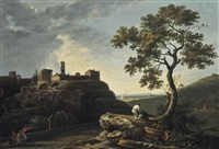 tivoli: the temple of the sybil and the campagna by richard wilson