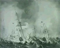 the storm during queen charlottes voyage to england (2) by thomas allen