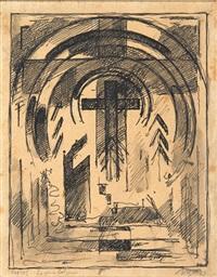 croix romaine en gloire by albert gleizes