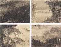 eight views of mount huang by wu tai
