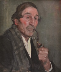 gentleman smoking a pipe by bessie ellen davidson