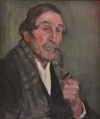 gentleman smoking a pipe by bessie ellen davidson
