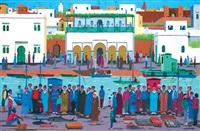 marché au poisson au bord de la rivière by mostafa cherrad