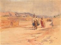 en route vers biskra by frank milton armington