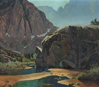 in the south fork basin, big pine canyon by robert clunie