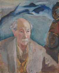 untitled (portrait of mortimer-lamb) by vera weatherbie