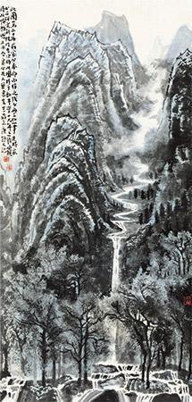 山隐图 landscape by li keran