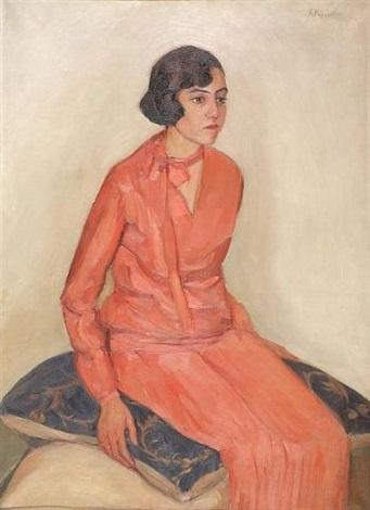 girl in pink dress by katia nataridou