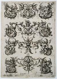 vier ornamentale friese by daniel hopfer