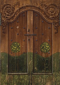 door (diptych) by elizabeth kruger