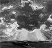 wolke uber einer sommerland- schaft by wilhelm dachauer