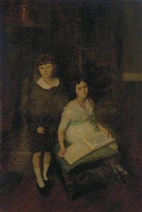 a portrait of two children by lydia field emmet