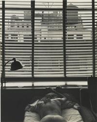new york interior' (charis) by edward weston
