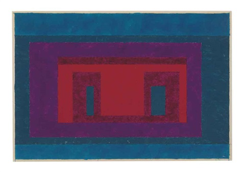 study for an adobe by josef albers