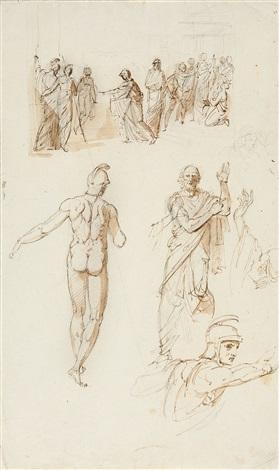 figurenstudien in antiker gewandung study by friedrich heinrich füger