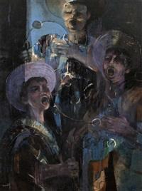 carol singers, malaga by george campbell