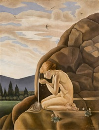 nude at the source by gregorio sciltian